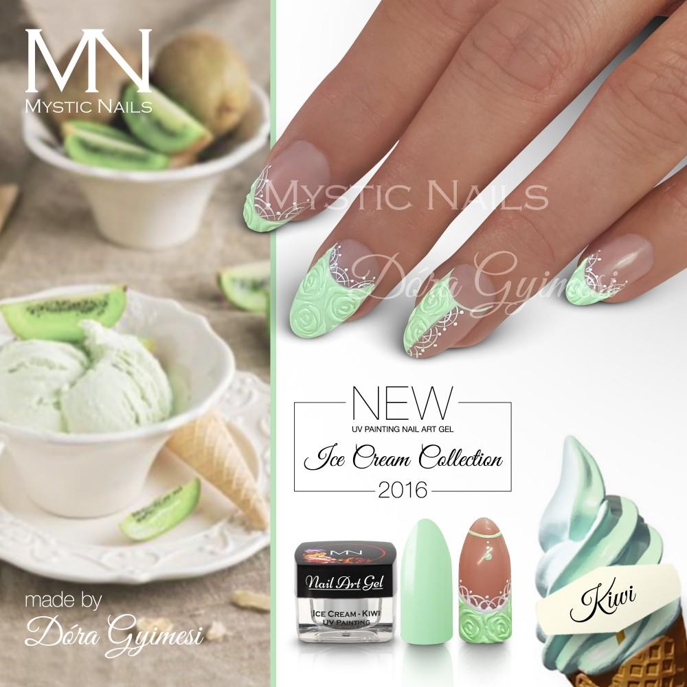 Uv Painting Nail Art Gel Ice Cream Kiwi 4g In The Uv Painting