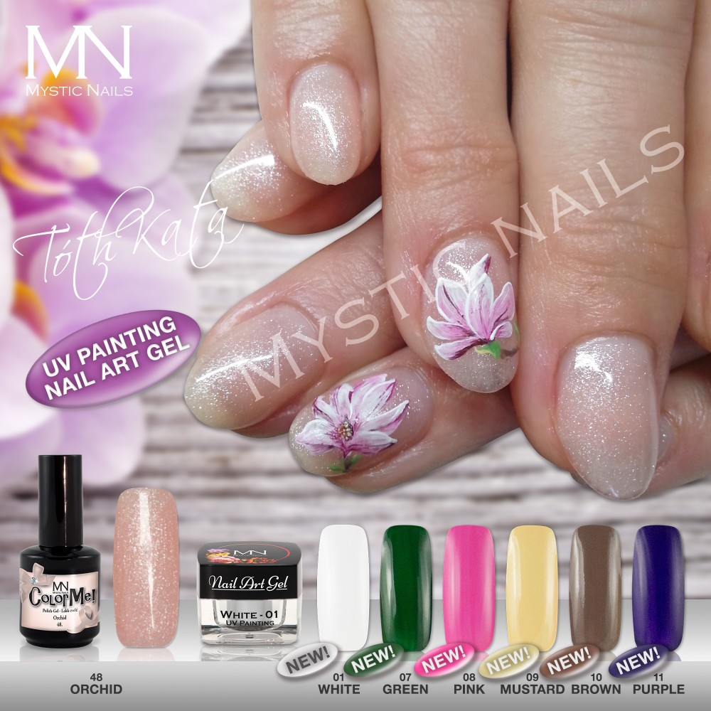 UV Painting Nail Art Gel - 10 - Brown - 4g in the UV Painting Nail ...