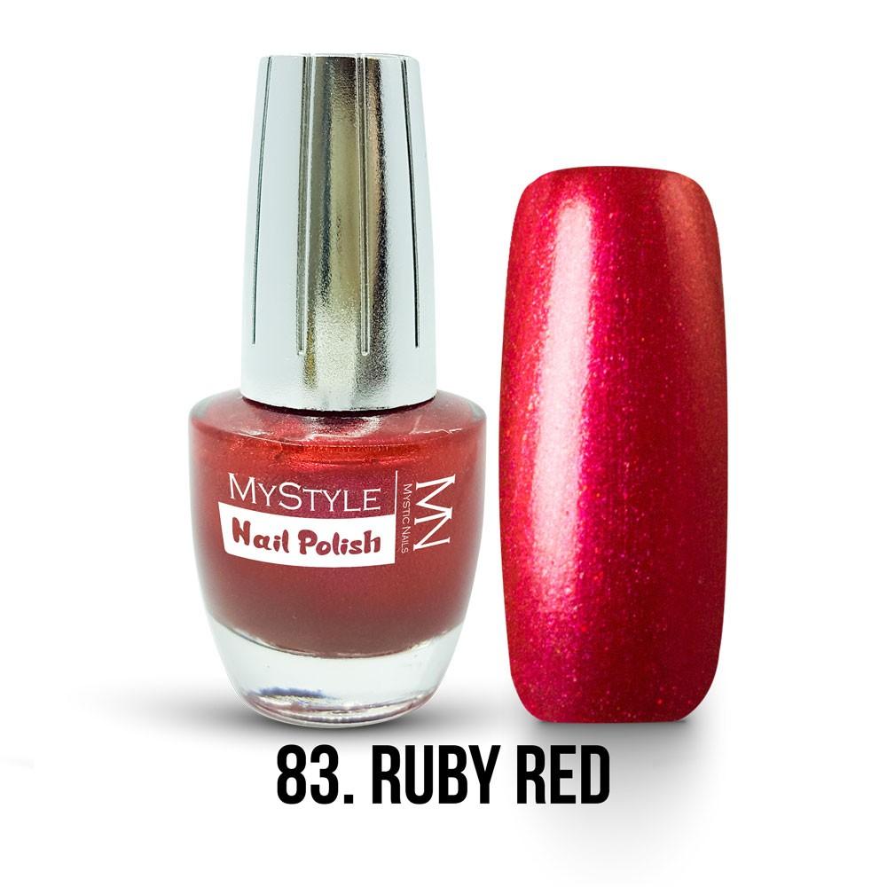 Mystyle Nail Polish 083 Ruby Red 15ml
