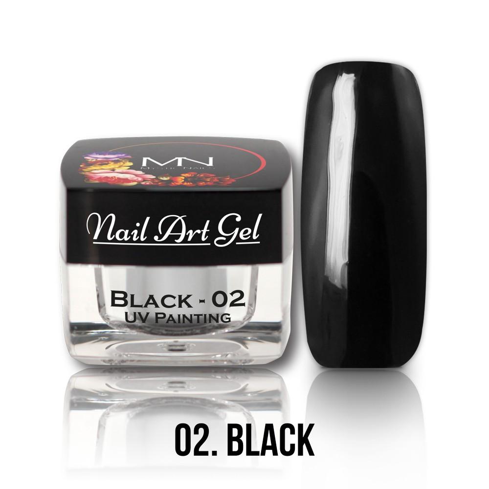 UV Painting Nail Art Gel - 02 - Black - 4g in the UV Painting Nail ...