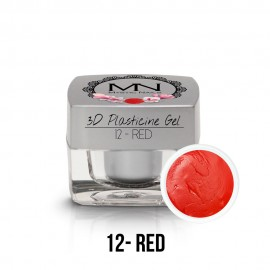 3D Plasticine Gel - 12 - Red - 3,5g