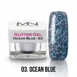 Glitter Gel - no.03. - Ocean Blue - 4g
