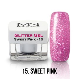 Glitter Gel - no.15. - Sweet Pink - 4g
