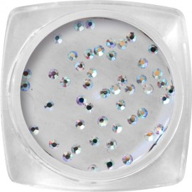 Crystal stones - Holographic Silver SS3 - 50 pcs / jar