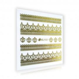 Gold Lace Sticker - HBJY001