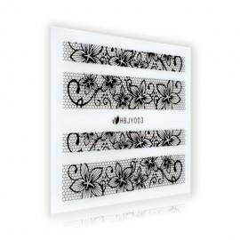 Black Lace Sticker - HBJY003
