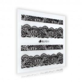 Black Lace Sticker - HBJY011