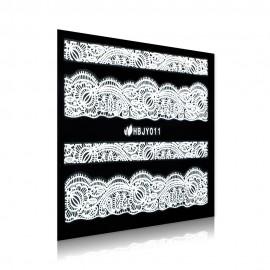 White Lace Sticker - HBJY011