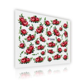 Flower pattern sticker - C035