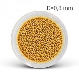 Metal beads - gold (0,8 mm)
