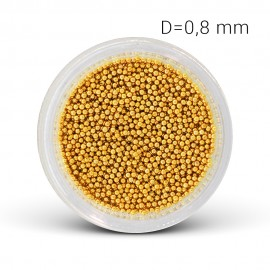 Metal beads - gold (0,8 mm)
