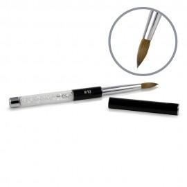 Kolinsky Black Glamour Builder Brush - Peaked - #10