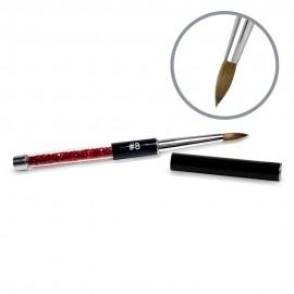 Kolinsky Black Glamour Builder Brush - Peaked - #8