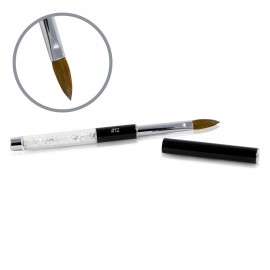 Kolinsky Black Glamour Brush - Flat-peaked - #12