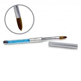 Kolinsky Silver Glamour Builder Brush - Flat-peaked - #12