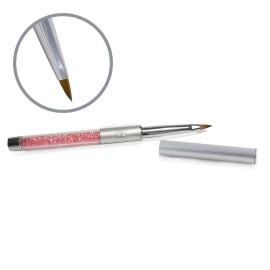Kolinsky Silver Glamour Builder Brush - Flat-peaked - #2