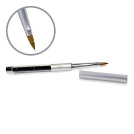 Kolinsky Silver Glamour Builder Brush - Flat-peaked - #4