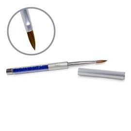 Kolinsky Silver Glamour Builder Brush - Flat-peaked - #8