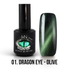Gel Polish Dragon Eye Effect 01 - Olive 12ml