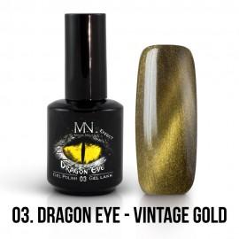 Gel Polish Dragon Eye Effect 03 - Vintage Gold 12ml