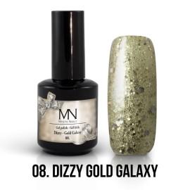 Gel Polish Dizzy 08 - Dizzy Gold Galaxy 12ml