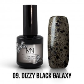 Gel Polish Dizzy 09 - Dizzy Black Galaxy 12ml