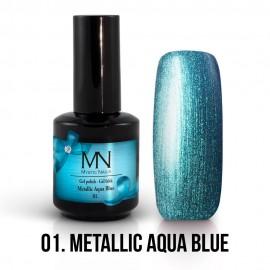 Gel Polish Metallic 01 - Metallic Aqua Blue 12ml