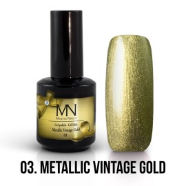 Gel Polish Metallic 03 - Metallic Vintage Gold 12ml