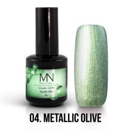 Gel Polish Metallic 04 - Metallic Olive 12ml