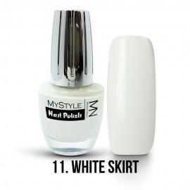 MyStyle Nail Polish - 011. - White Skirt - 15ml