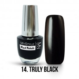 MyStyle Nail Polish - 014. - Truly Black - 15ml