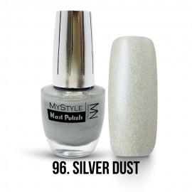 MyStyle Nail Polish - 096. - Silver Dust - Silver Effect - 15ml