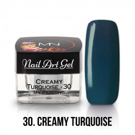 UV Painting Nail Art Gel - 30 - Creamy Turquoise - 4g