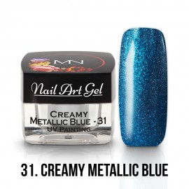 UV Painting Nail Art Gel - 31 - Creamy Metallic Blue - 4g