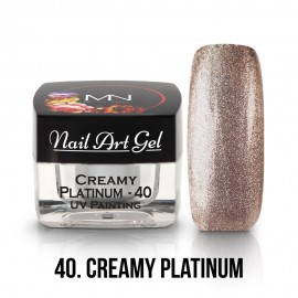UV Painting Nail Art Gel - 40 - Creamy Platinum - 4g