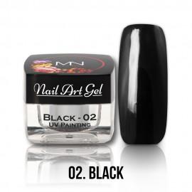 UV Painting Nail Art Gel - 02 - Black - 4g