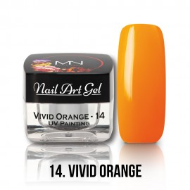 UV Painting Nail Art Gel - 14 - Vivid Orange - 4g