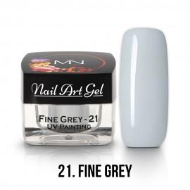 UV Painting Nail Art Gel - 21 - Fine Grey - 4g
