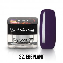 UV Painting Nail Art Gel - 22 - Eggplant - 4g