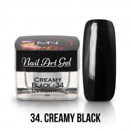 UV Painting Nail Art Gel - 34 - Creamy Black - 4g