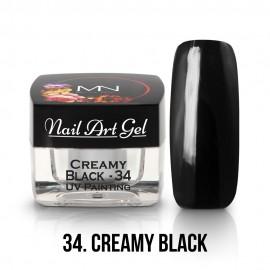UV Painting Nail Art Gel - 34 - Creamy Black - 4g