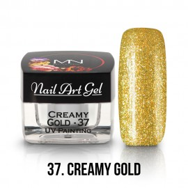 UV Nail Art Gel - 37 - Creamy Gold - 4g
