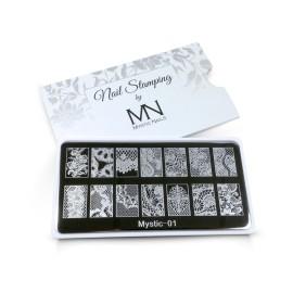 Nail stamping plate - 01.