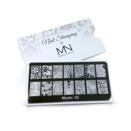 Nail stamping plate - 02. (only with nail polish)
