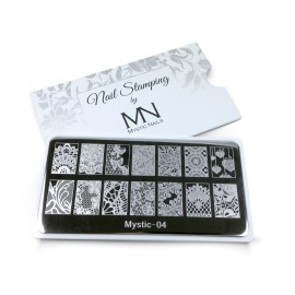 Nail stamping plate - 04.