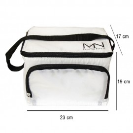 Cooler bag with Mystic Nails logo - white