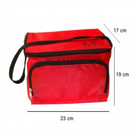 Cooler bag with Mystic Nails logo - red