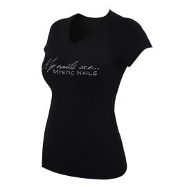 MN Glamour Black T-shirt - Big Logo - L
