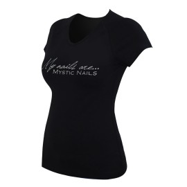 MN Glamour Black T-shirt - Big Logo - M