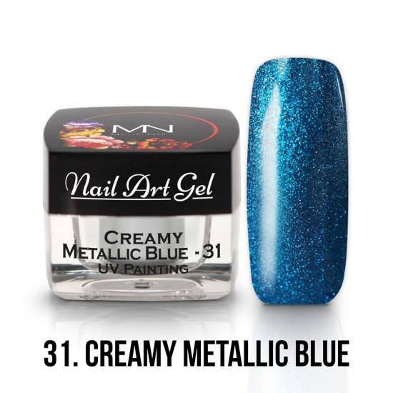 UV Painting Nail Art Gel - 31 - Creamy Metallic Blue - 4g